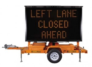 Construction Zone PCMS Message Board Rental